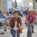 自転車に向いた街