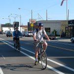 Photo:自転車レーンを走る