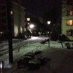 東京でも積雪、数日自転車無理かも。