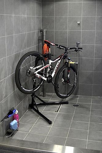 自転車用のシャワー