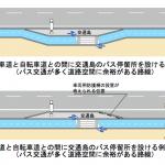 「安全で快適な自転車利用環境創出ガイドライン」を少しずつ読む」(9)バス停部分はこうなる!