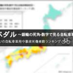 香川県は自転車死傷事故の発生率が高いという