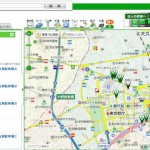 NAVITIMEのWebサイトでNCDの駐輪場(エコステーション21等)の情報を検索する