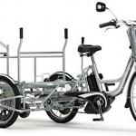 強力アシストのリヤカー付き電動アシスト自転車「PAS GEAR CARGO」による集配業務の検証事業がまもなくスタート