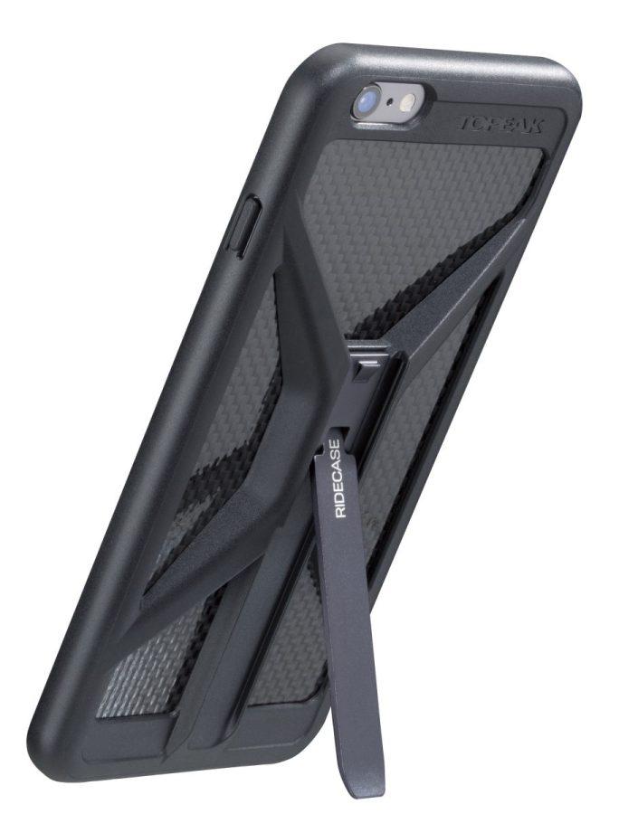 RIDECASE for iPhone 6 Plus(ブラック、スタンド使用状態)