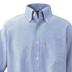 速乾性があってシワになりにくいモンベルの「コアスパン オックスフォード ボタンダウンシャツ」