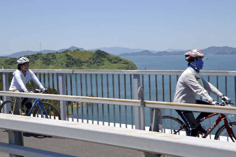 もちろん「しまなみ海道」を走る