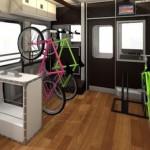 JR西日本の新観光列車はサイクルスペースを設置予定