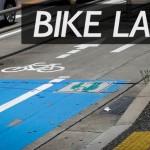 flickrで見つけた「自転車通行空間のある風景」(10)自転車道とサイクルラック付きバス