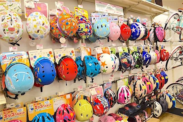 もちろん子供用のヘルメットも豊富