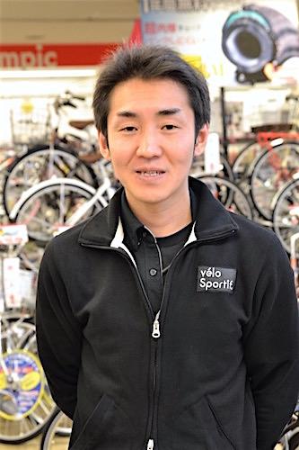 サイクルOlympic 綱島樽町店の渡部大介店長