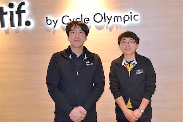 velo sportifの井澤泰治店長(左)とスタッフの平子さん(右)