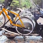 ADIVAの前二輪スクーターにサイクルキャリアという提案