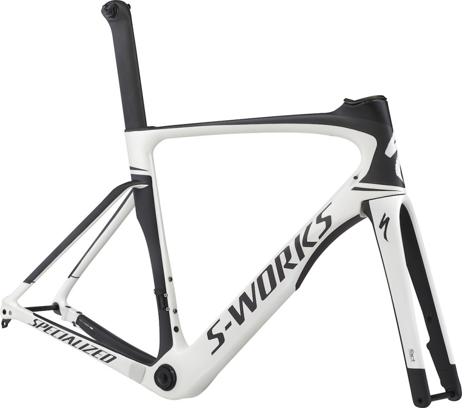 S-WORKS VENGE DISC ViAS FRAMESET(GLOSS METARLLIC WHITE/SATIN CARBON/BLACK)