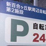 川崎市営の屋根なし駐輪場は安い