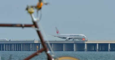 浮島町公園までサイクリングして羽田空港の飛行機を見る