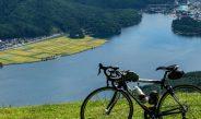 小熊山から木崎湖を見下ろす。